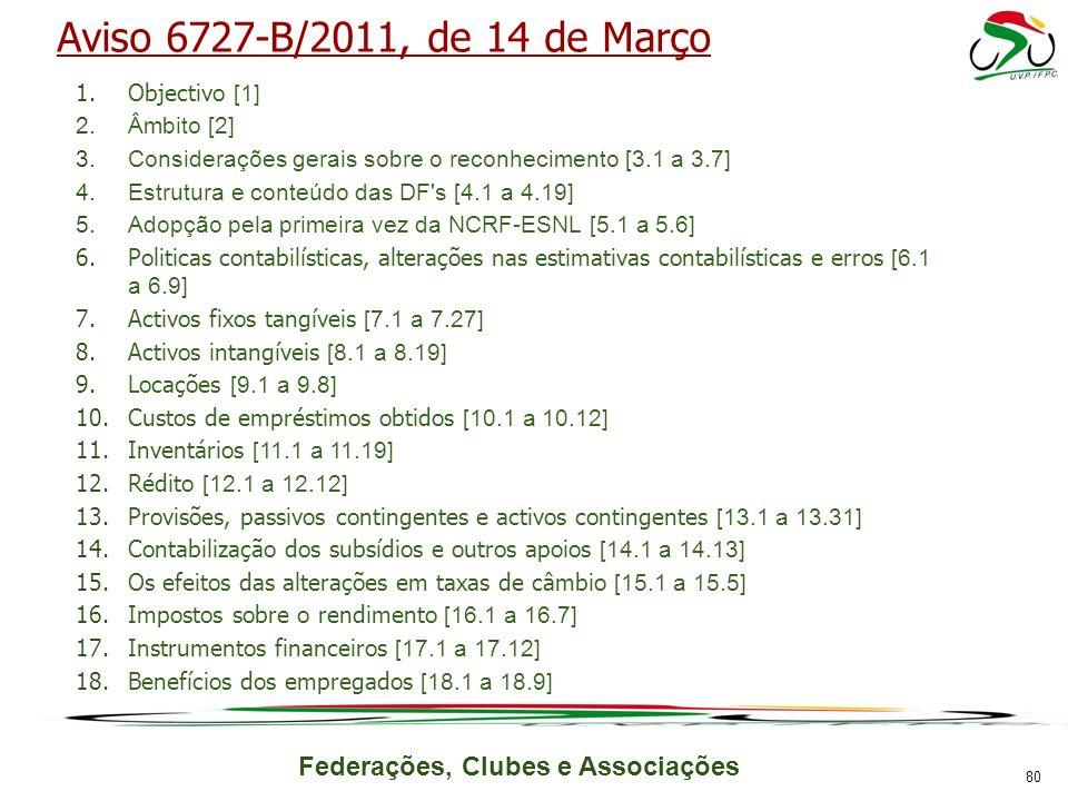 Aviso 6727-B/2011, de 14 de Março Objectivo [1] Âmbito [2]